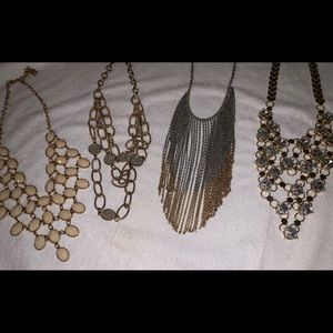 Costume style jewelry necklaces